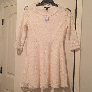 F21 cream lace dress